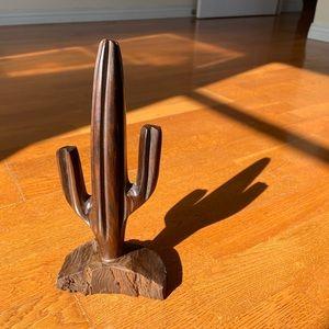 Hard wood cactus